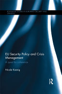 Pdf EU Security Policy and Crisis Management Telecharger