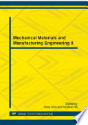 Mechanical Materials And Manufacturing Engineering Ii Book PDF