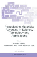 Piezoelectric Materials  Advances in Science  Technology and Applications