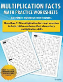 Multiplication Facts Math Worksheet Practice Arithmetic Workbook with Answers