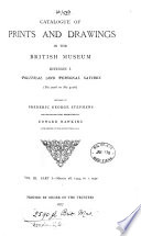 Catalogue of prints and drawings in the British museum  Division 1  Political and personal satires