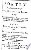 The Circle of the Sciences  Edited by John Newbery