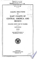 Sailing Directions for East Coasts of Central America and Mexico