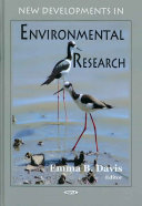 New Developments in Environmental Research Book