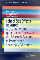 School Size Effects Revisited Pdf/ePub eBook