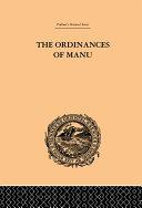 The Ordinances of Manu