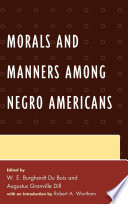 Morals and Manners among Negro Americans