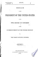 The Abridgment Containing The Annual Message Of The President Of The United States To The Two Houses Of Congress With Reports Of Departments And Selections From Accompanying Papers