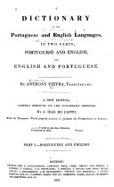 A Dictionary of the Portuguese and English Languages, in Two Parts ebook