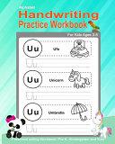 Alphabet Handwriting Practice Workbook for Kids Ages 3 5