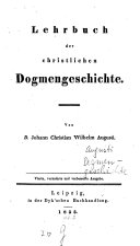 Lehrbuch der christlichen Dogmen-Geschichte