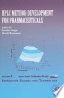 HPLC Method Development for Pharmaceuticals Book
