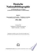 Deutsche Nationalbibliographie und Bibliographie der im Ausland erschienenen deutschsprachigen Veröffentlichungen