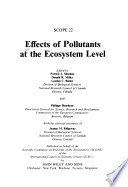 Effects of Pollutants at the Ecosystem Level