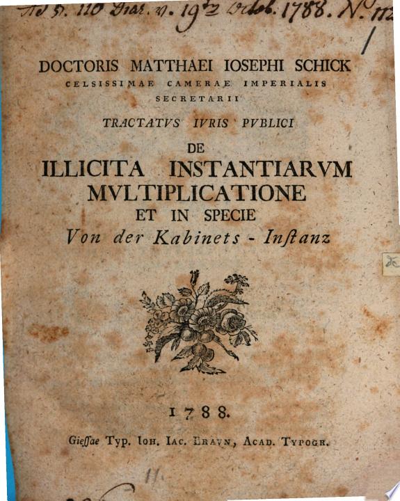 Matthaei Ios. Schick Tractatus iuri