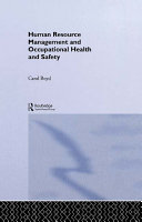 Human Resource Management and Occupational Health and Safety