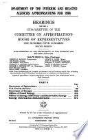 Department of the Interior and Related Agencies Appropriations for 1999  Secretary of Agriculture