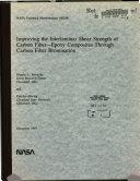 Improving the Interlaminar Shear Strength of Carbon Fiber epoxy Composites Through Carbon Fiber Bromination