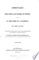 Commentaries on the Four Last Books of Moses
