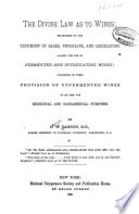 The Divine Law as to Wines Book