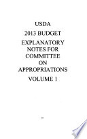 Agriculture  Rural Development  Food and Drug Administration  and Related Agencies Appropriations for 2013