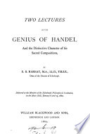 Two Lectures on the Genius of Handel