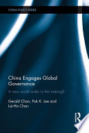 China Engages Global Governance Book