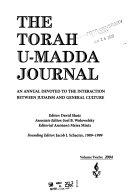 The Torah U madda Journal