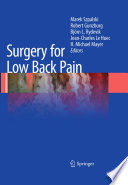 Surgery For Low Back Pain Book PDF