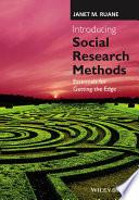 Introducing Social Research Methods
