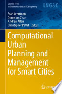 Computational Urban Planning And Management For Smart Cities Book PDF