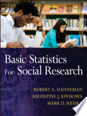 Basic Statistics For Social Research Book