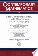 Error Correcting Codes Finite Geometries And Cryptography