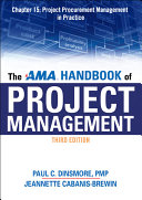 The AMA Handbook of Project Management Chapter 15  Project Procurement Management in Practice
