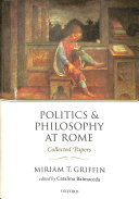 Politics and Philosophy at Rome Book