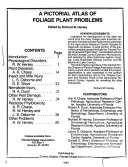 A Pictorial Atlas of Foliage Plant Problems