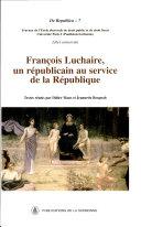 François Luchaire, un républicain au service de la République