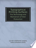 Typographical Printing Surfaces