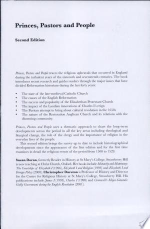 Free Download Princes, Pastors, and People PDF - Writers Club