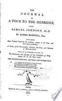"""""""The Journal of a Tour to the Hebrides, with Samuel Johnson, LL.D."""" by James Boswell"""