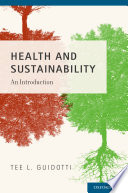Book Cover: Halth and sustainability: an introduction