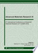 Advanced Materials Research Ix Book PDF