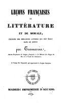 Leçons françaises ed littérature et de morale