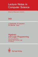 Algebraic and Logic Programming Pdf/ePub eBook