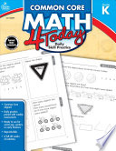 Common Core Math 4 Today  Grade K Book