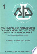 Evaluation And Optimization Of Laboratory Methods And Analytical Procedures Book PDF