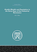 Pdf Health, Wealth and Population in the Early Days of the Industrial Revolution