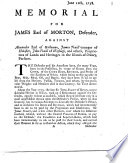 Memorial for James Earl of Morton  defender  against Alexander Earl of Galloway     and others     pursuers  in an action for the reduction of the weights used in Orkney and Shetland to the original standard    Signed  And  Pringle    June 12th  1758