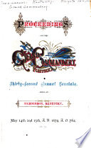 Proceedings of the     Annual Conclave of the Grand Commandery of Kentucky  Knights Templar