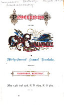 Proceedings of the ... Annual Conclave of the Grand Commandery of Kentucky, Knights Templar